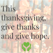 Thanksgiving Giving Thanks - Foundation For Senior Living
