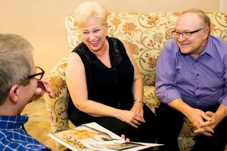 Couple Speaking - Foundation For Senior Living